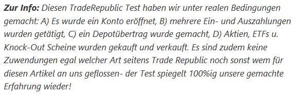 Infotext zum Test TradeRepublic Erfahrungen