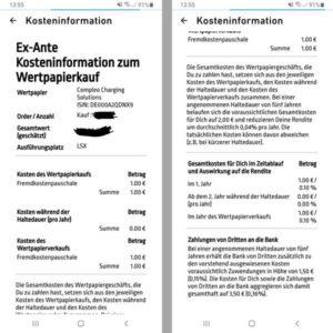 Übersichtlich und Günstig! Ein Kauf einer Aktie bei Traderebublic kostet 1 EUR